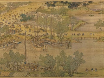"""Different Types Of Painting >> """"Along the River During the Qingming Festival"""" by Zhang Zeduan (12th Century) and an 18th ..."""