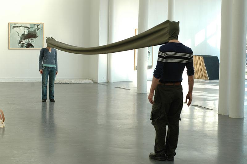 Franz Erhard Walther on Socks-studio.com