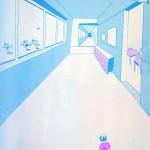 Surreal duotone illustrations by Shigeru Miwa