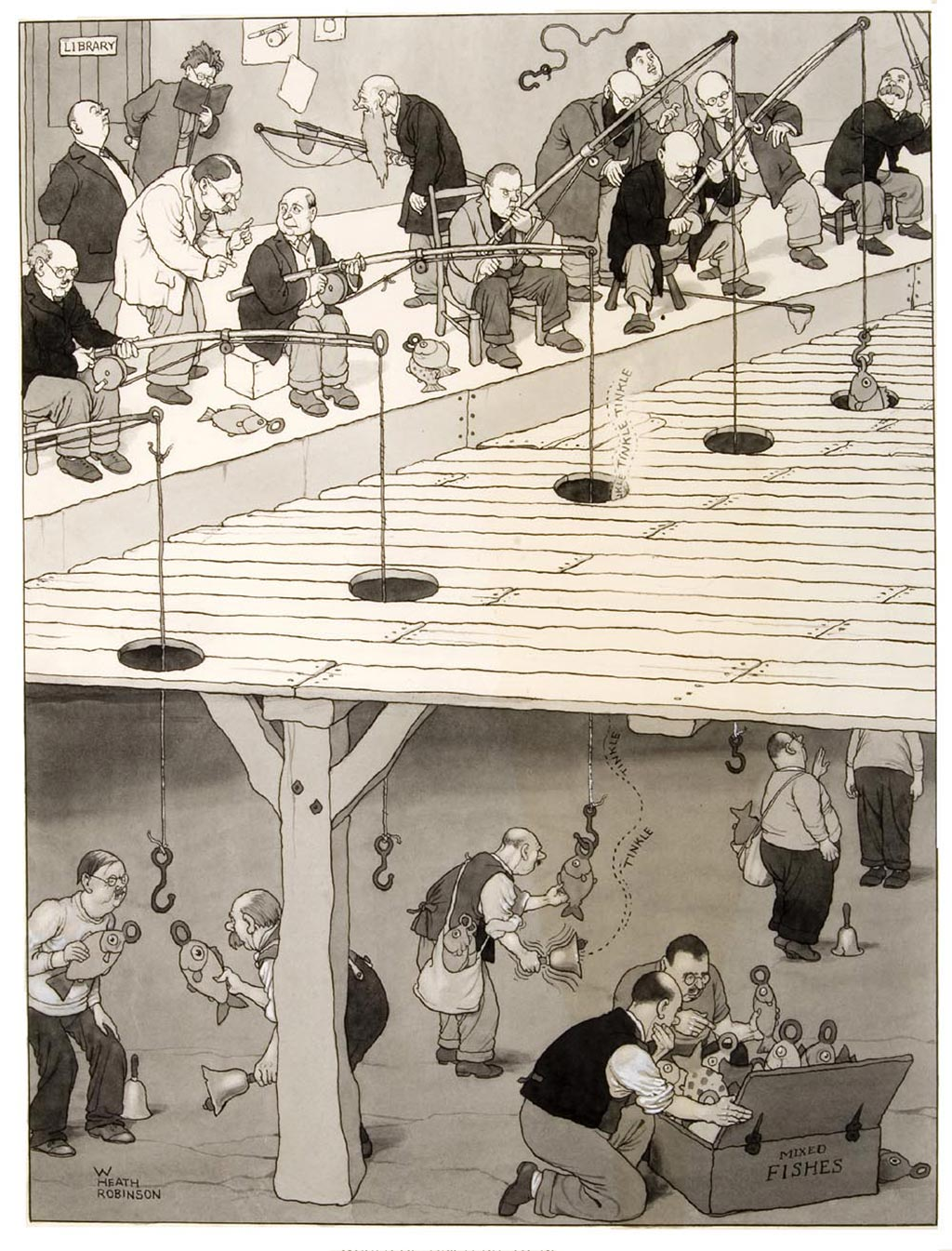 william_heath_robinson_inventions_teaching-would-be-anglers