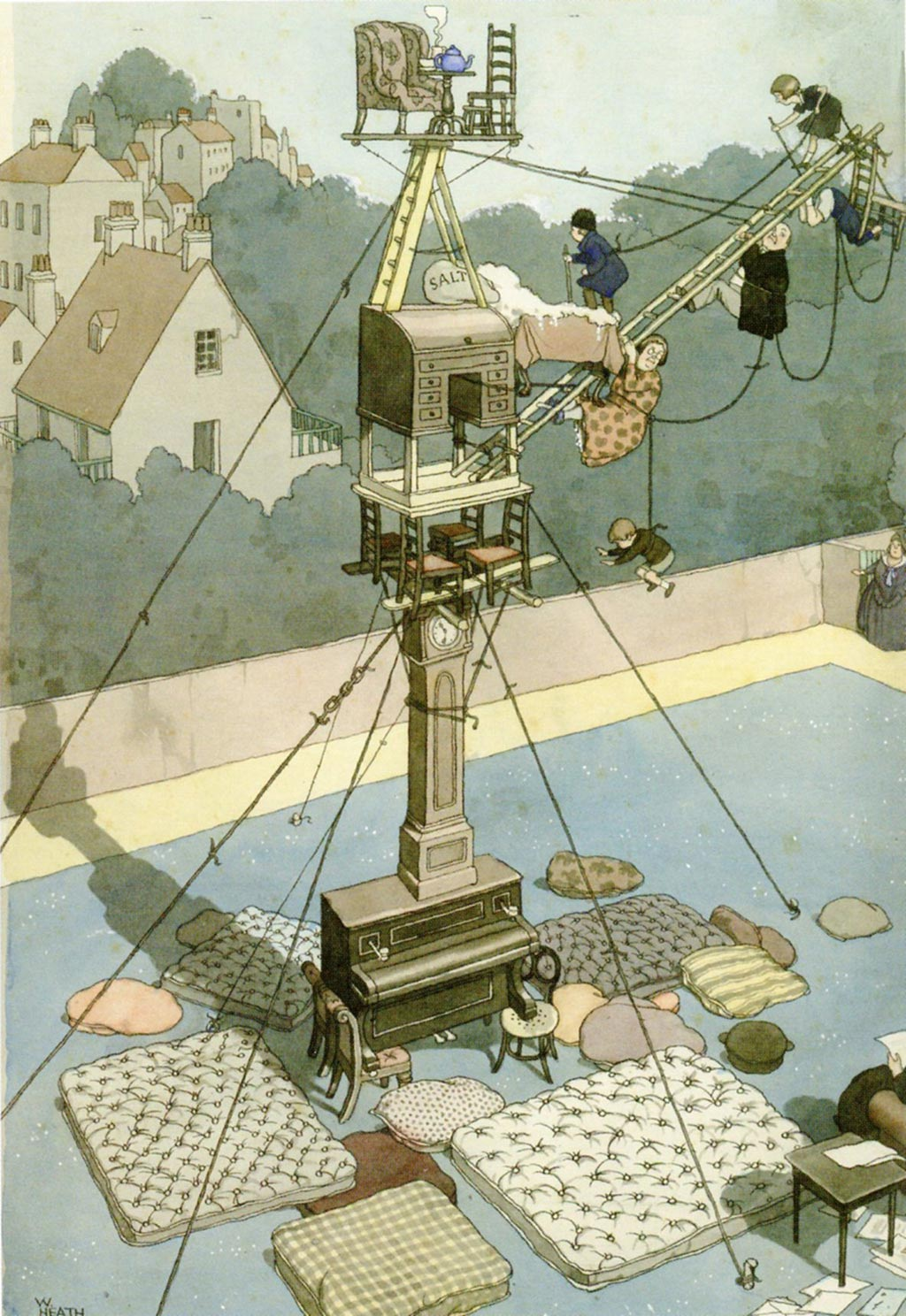 william_heath_robinson_inventions_carrying_out_the_correspondance_1928
