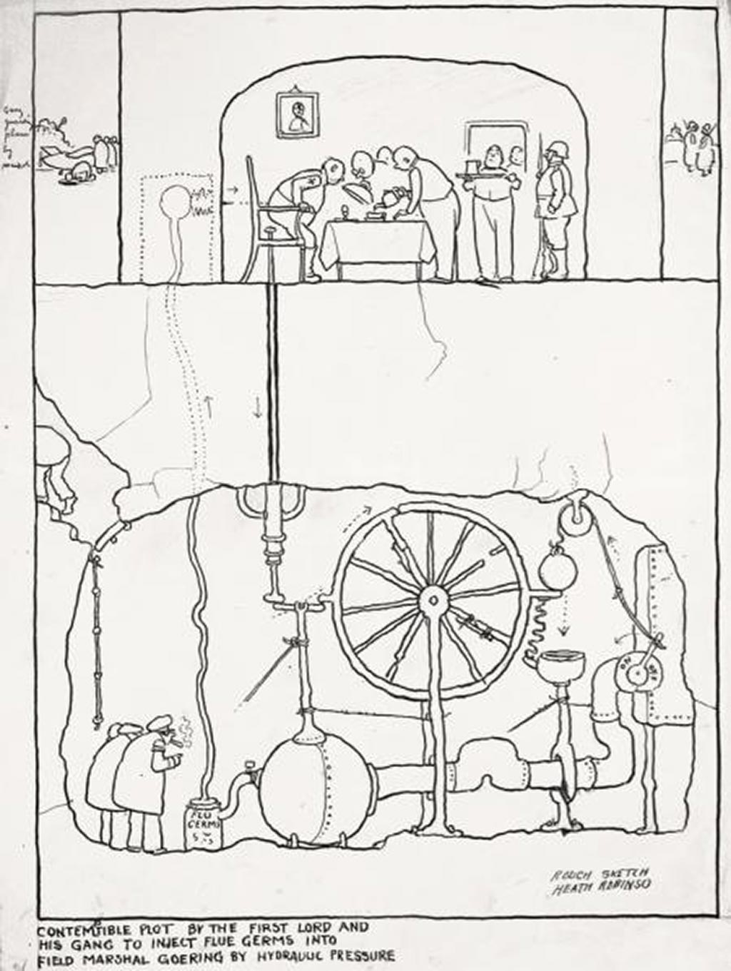 william_heath_robinson_inventions_contemptible_plot_1940
