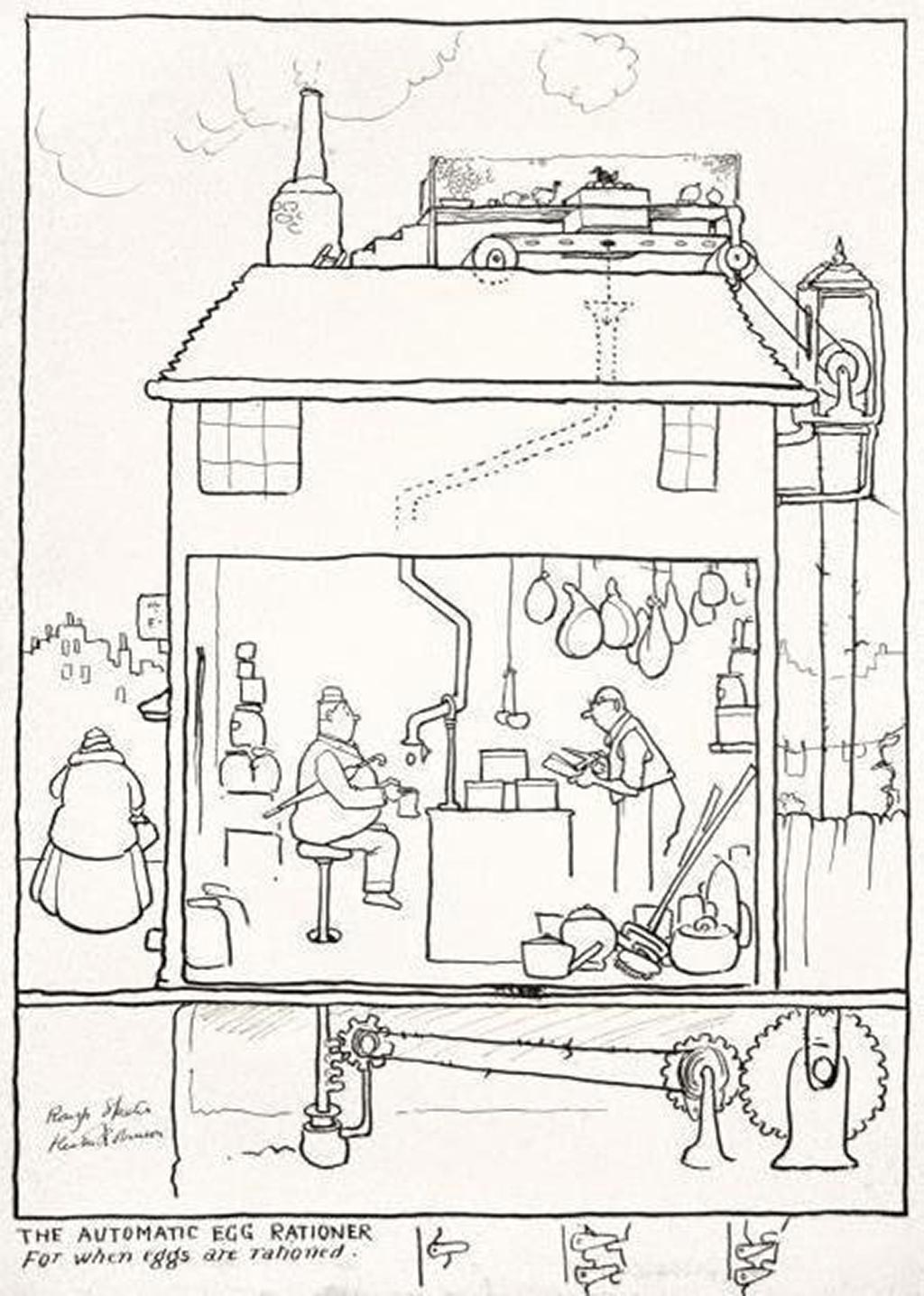 william_heath_robinson_inventions_the_automatic_egg_rationer_1940