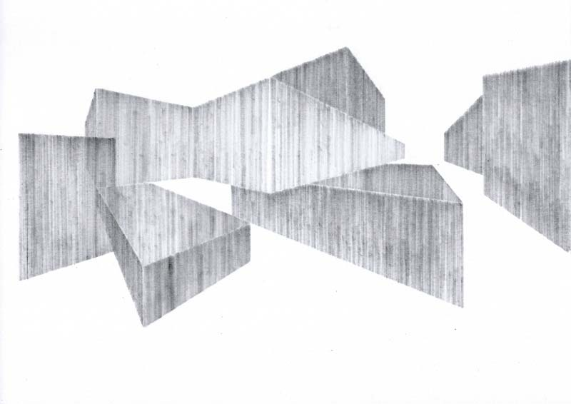 From Lines To Volumes Architectural Drawings By Kristin Arestava