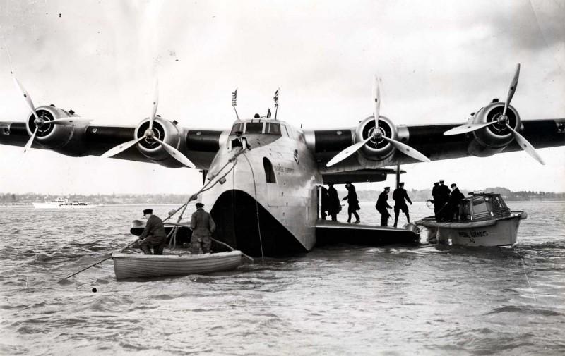 "Boeing 314 ""Dixie Clipper"" 1939-1950 (/1/144 Minicraft) B-314-arr-southampton1-800x505"