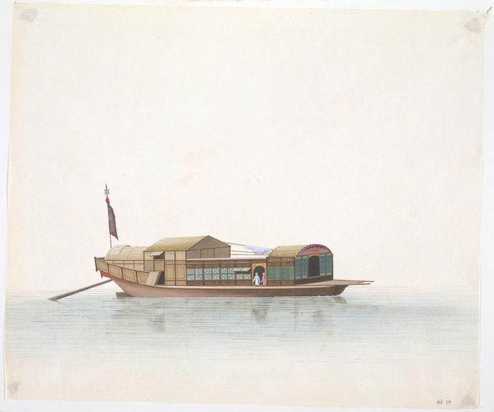 A 'shagu', a mobile brothel that plied the Pearl River.