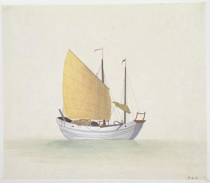 Rice and salt were the two staple food items transported in purpose-built boats like this one.