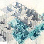 Furniture Landscapes, Watercolors by Los Carpinteros