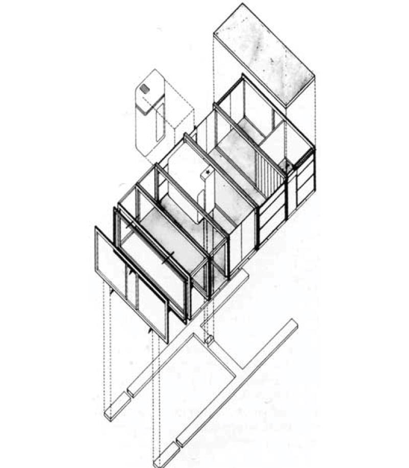 Cedric Price 'Housing Research' (1971) and the 'Steel ...