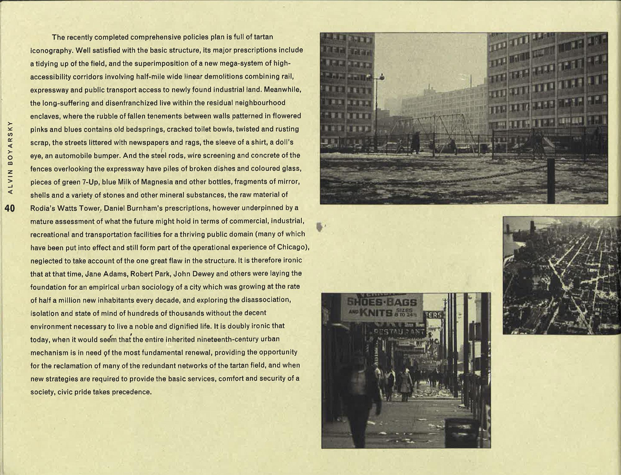 Alvin Boyarsky, Chicago à la carte, The City as an Energy System ...