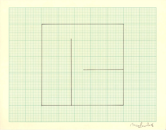 Untitled (Study for Light Music 2) Pencil on graph paper  Unique  Signed and dated  Sheet size: 20.5 x 26 cm  Framed size: 41 x 46 cm  2016
