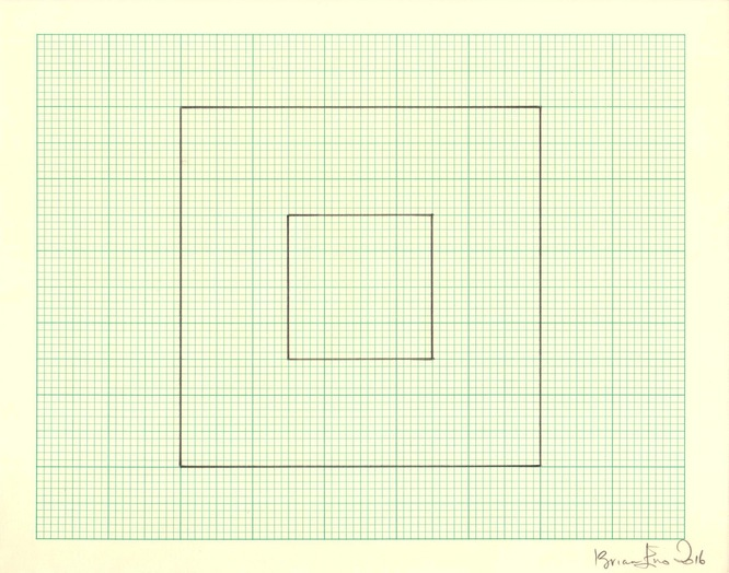 Untitled (Study for Light Music 3) Pencil on graph paper  Unique  Signed and dated  Sheet size: 20.5 x 26 cm  Framed size: 41 x 46 cm  2016