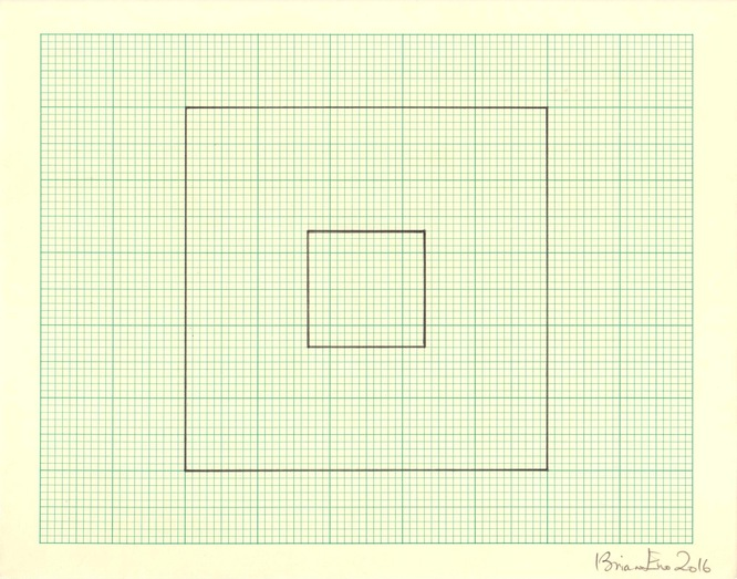 Untitled (Study for Light Music 4) Pencil on graph paper  Unique  Signed and dated  Sheet size: 20.5 x 26 cm  Framed size: 41 x 46 cm  2016