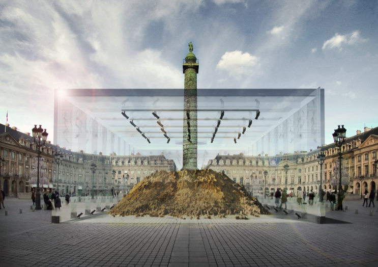 David gissen s reconstruction of the mound of vend me socks for Architecture a paris