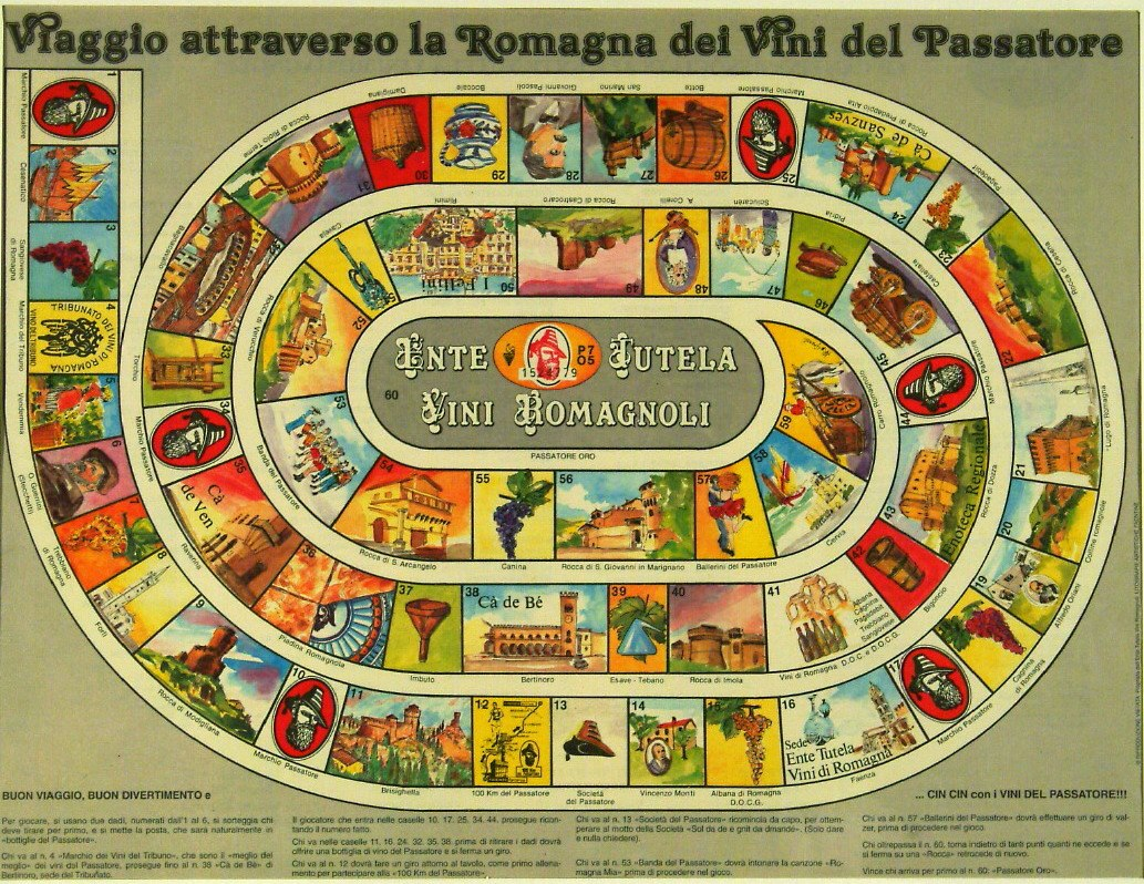 a collection of italian board games  mostly 19th to 20th