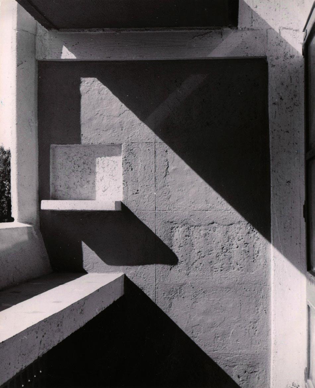 Loggia et module de béton, Marseille, 1949