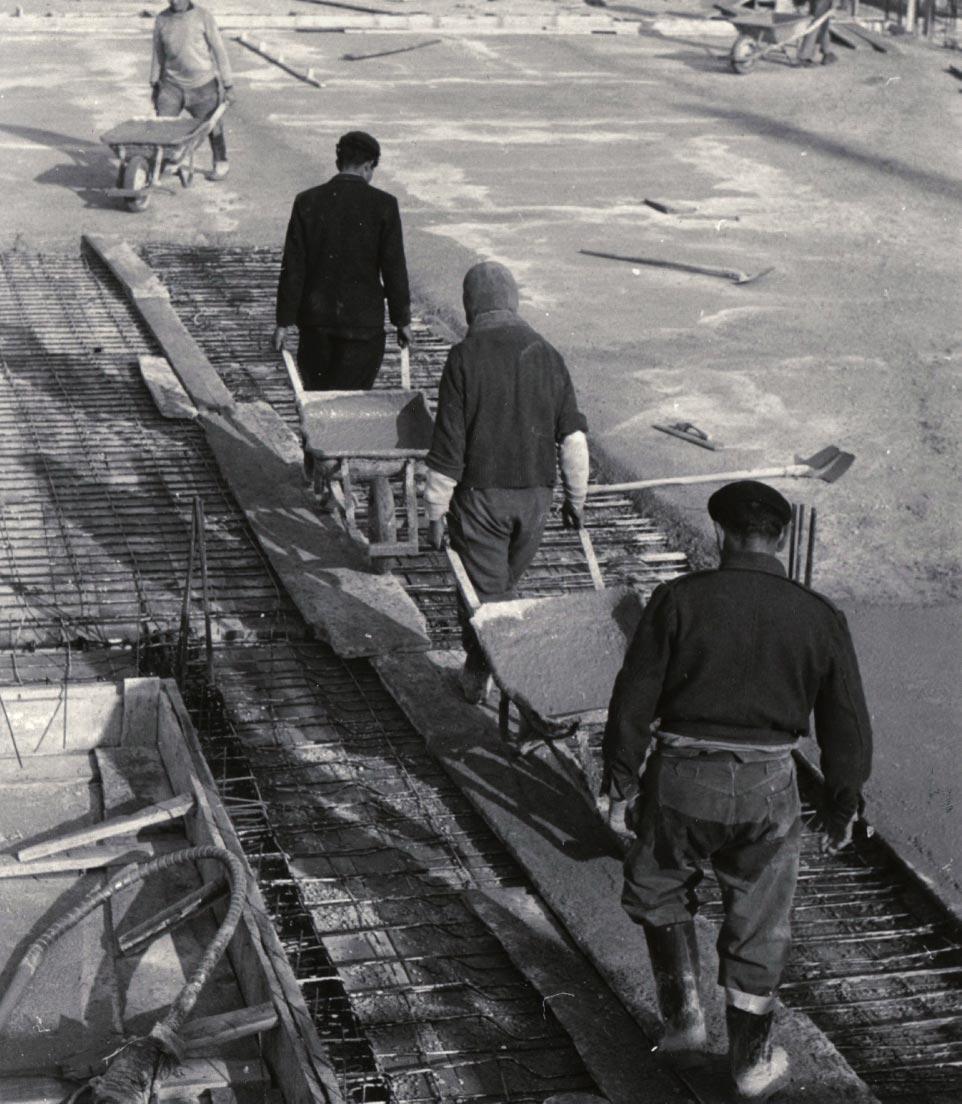 Transport du béton, Marseille, 1949