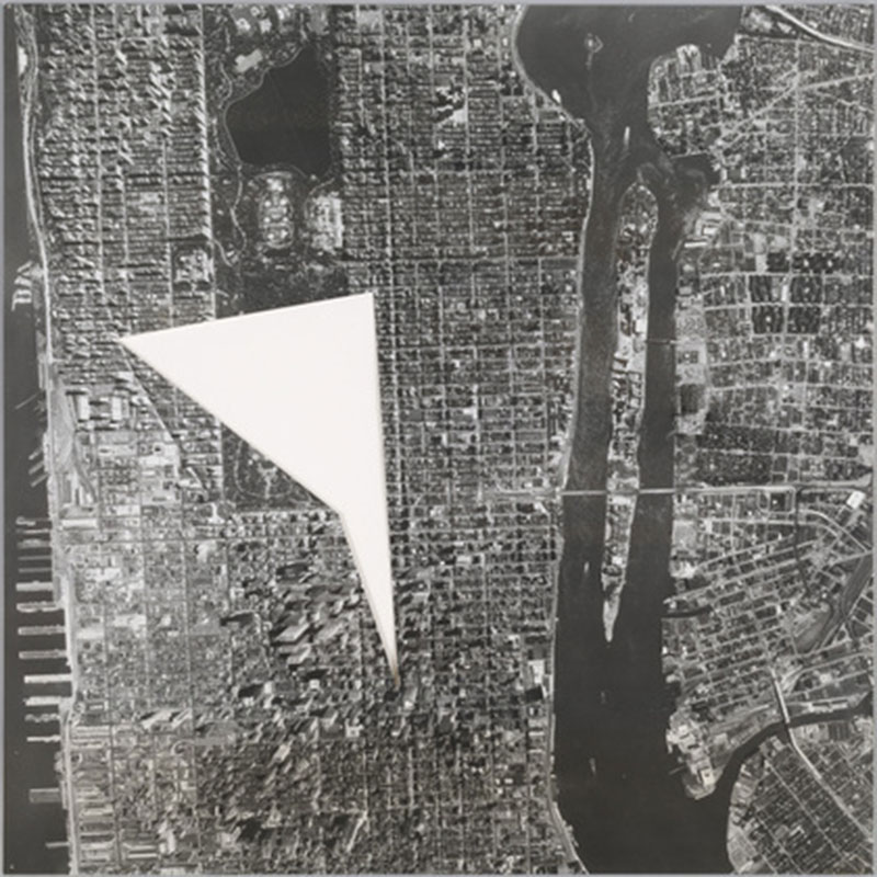 SOL LEWITT A Photograph of Mid-Manhattan with the Area between The Plaza, Ansonia, Biltmore and Carlyle Hotels Removed (R 770)