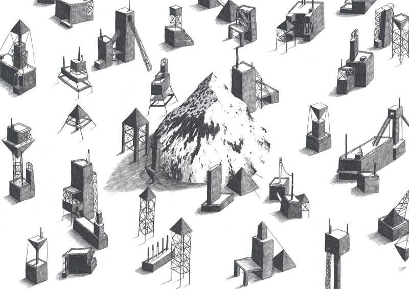 jamie mills mountain illustration