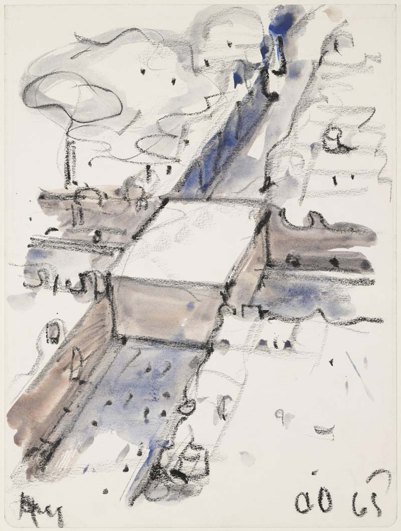 Claes Oldenburg,Proposed Monument for the Intersection of Canal Street and Broadway, N.Y.C, 1965