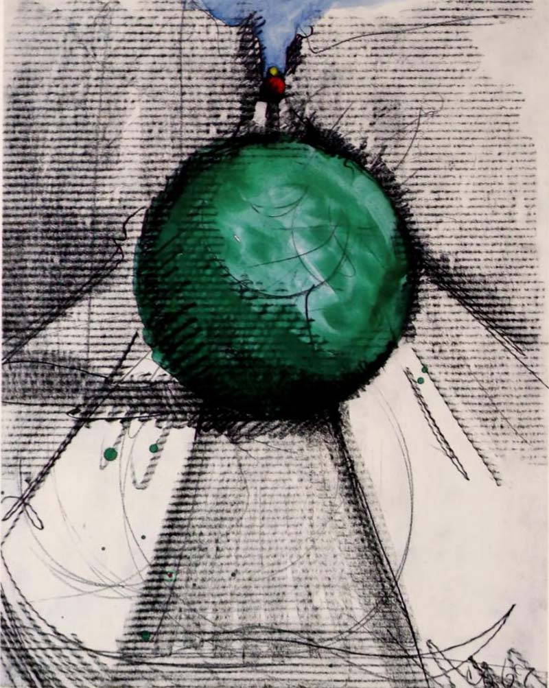 Claes Oldenburg, Proposed Colossal Monument For Park Avenue, New York City: Bowling Balls, 1967