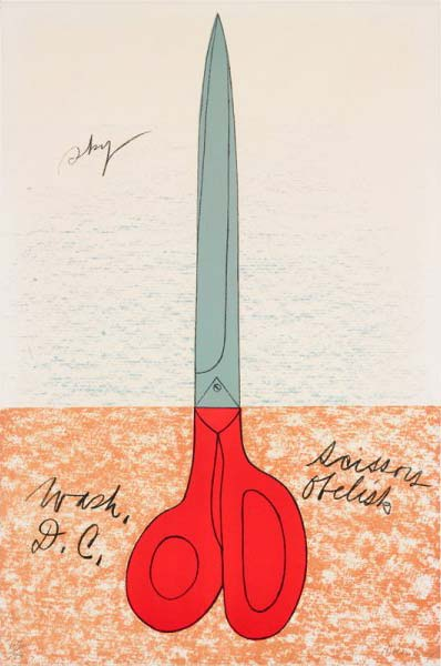 Claes Oldenburg, The Scissor monument: a Proposal to Replace Washington Obelisk in Washington, Washington D.C.