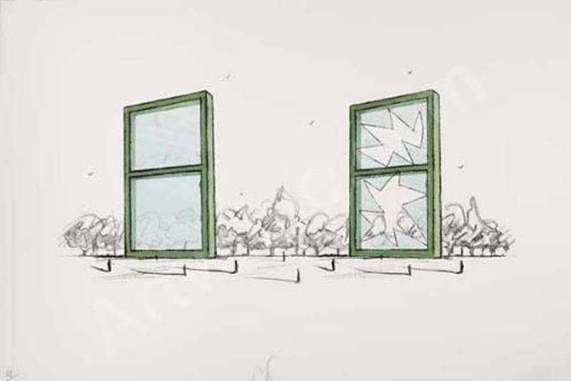 Claes Oldenburg, Proposal for a civic monument in the form of two windows
