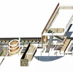 Applying the Cadavre Exquis: The Competition for the Dutch Parliament Extension, OMA (Koolhaas, Zenghelis, Zaha Hadid) – 1978