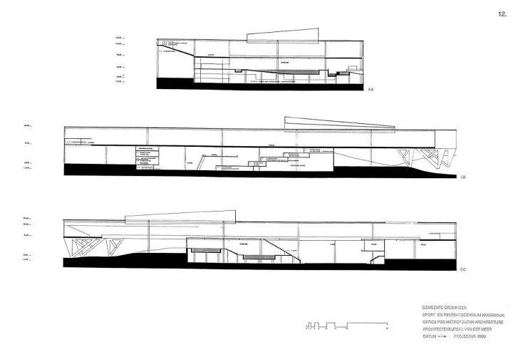Omas 1989 Sport Center Project For Noorddijk Groningen