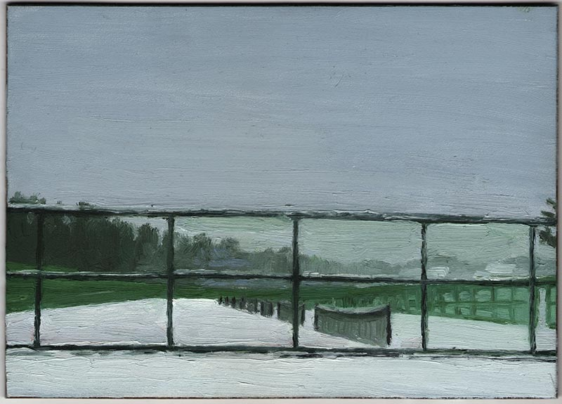 The Courts 2012, Oil on Panel, 5 x 7""