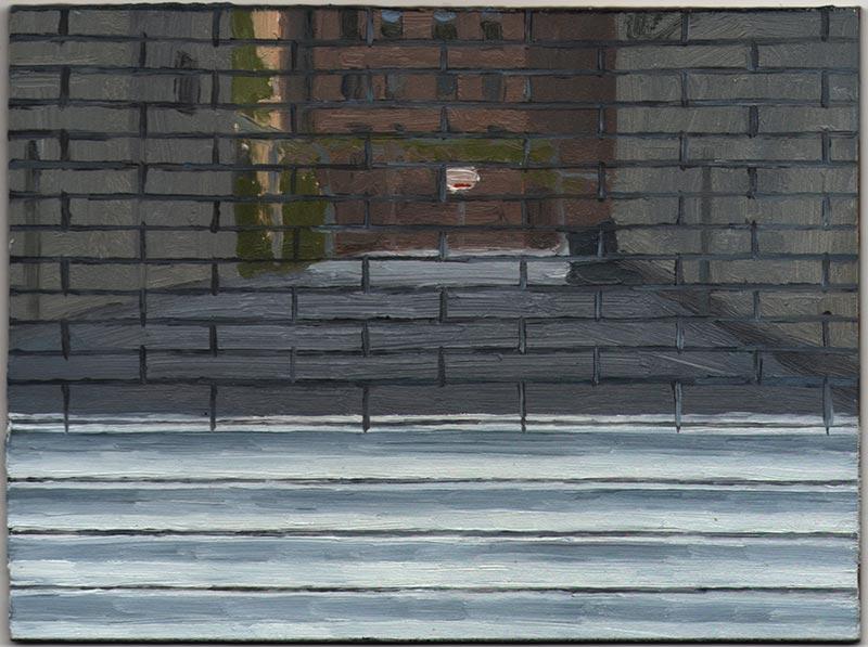 "Empty Lot 2013, Oil on Panel, 4 1/2 x 6"""