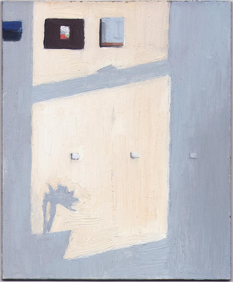 Light on the Wall 2014, Oil on Panel, 7 x 5 3/4""