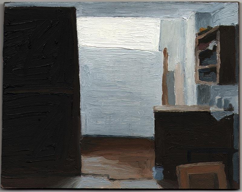 "Avital's Studio 2013, Oil on Panel, 5 x 6"""