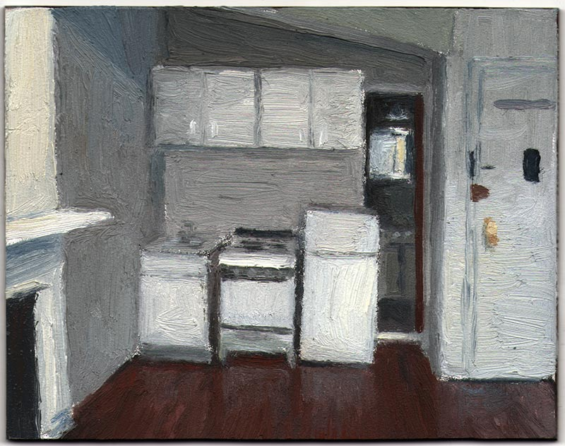 Apartment 16 2012, Oil on Panel, 3 7/8 x 5""
