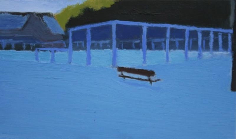 Vail Courts 2012, Oil on Panel, 3 x 5""