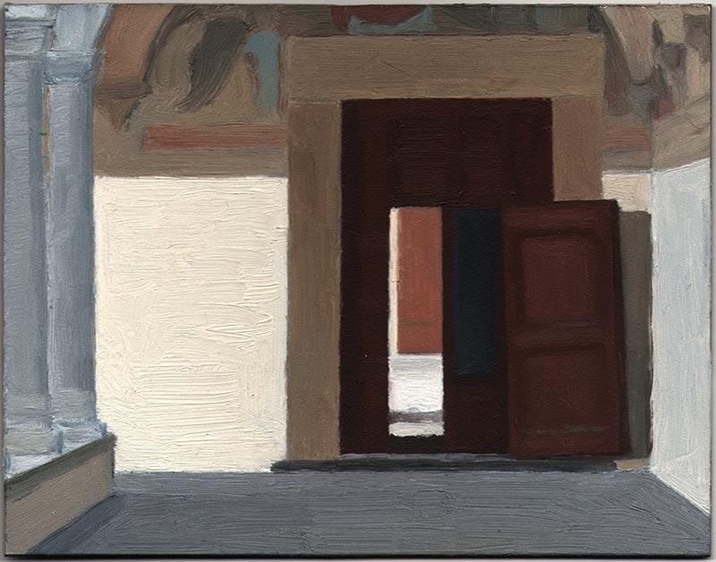 "San Marco 2013, Oil on Panel, 5 7/16 x 7"""