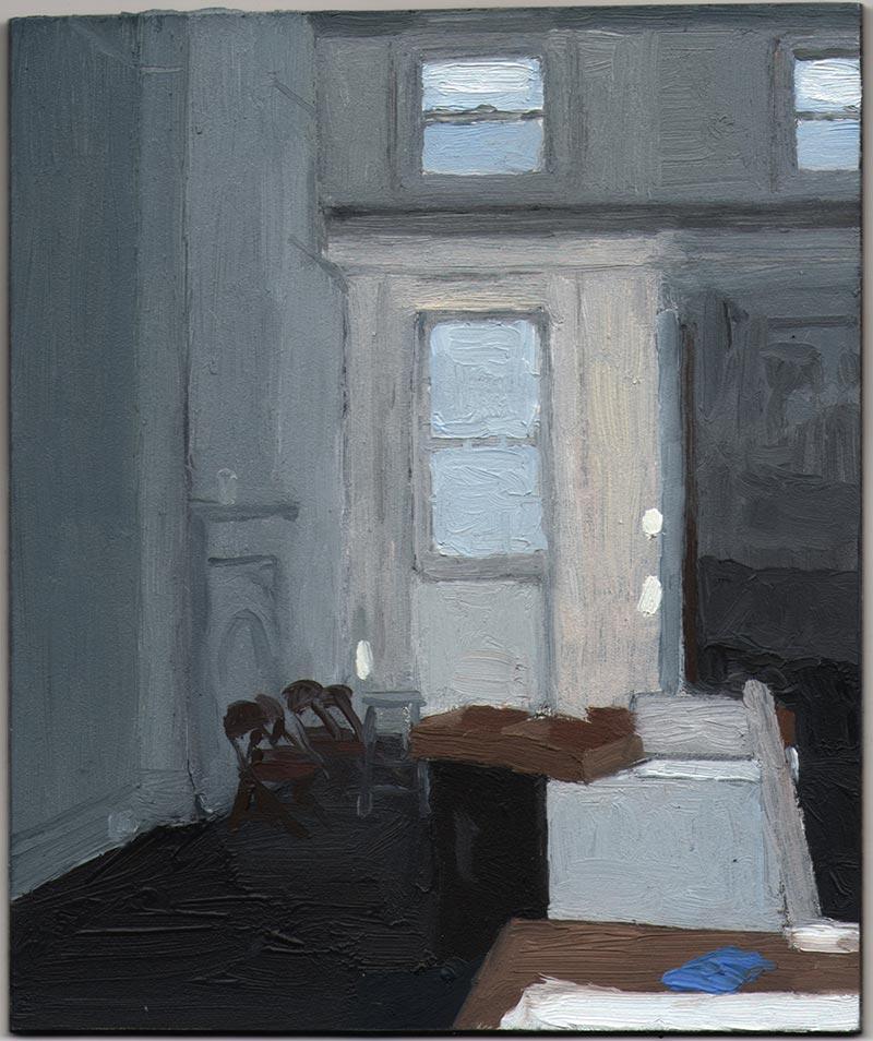 "Big Painting Studio 2013, Oil on Panel, 6 x 5"""