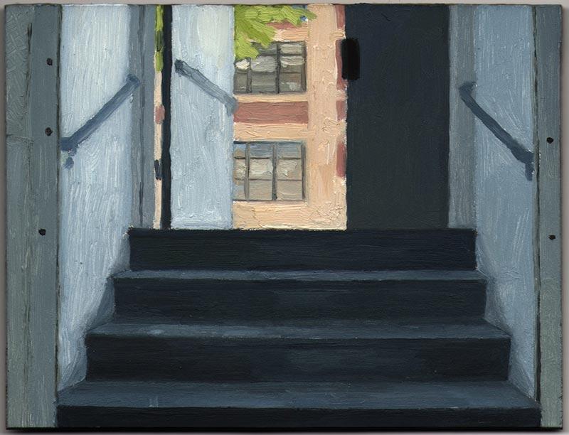 """56 Bogart 2013, Oil on Panel, 4 1/2 x 6"""""""