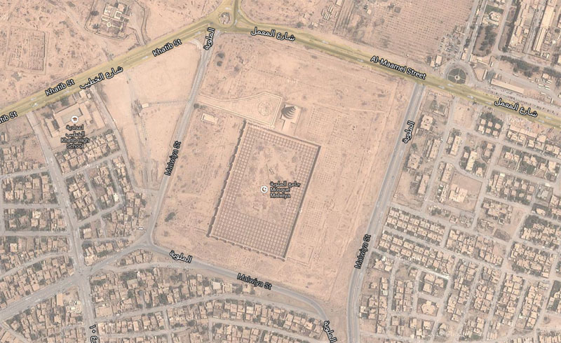 Great Mosque of Samarra aerial view