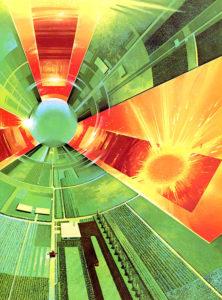 Orbital Space Colonies In Form Of Geometric Primitives