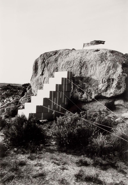 Disegno di una scala per entrare in una casa molto ricca, 1974