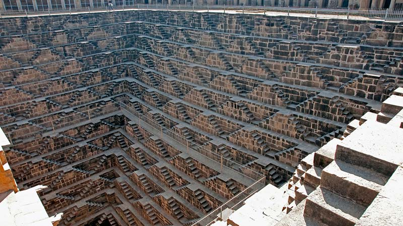 Chand Baori Stepwell in Rajasthan, India