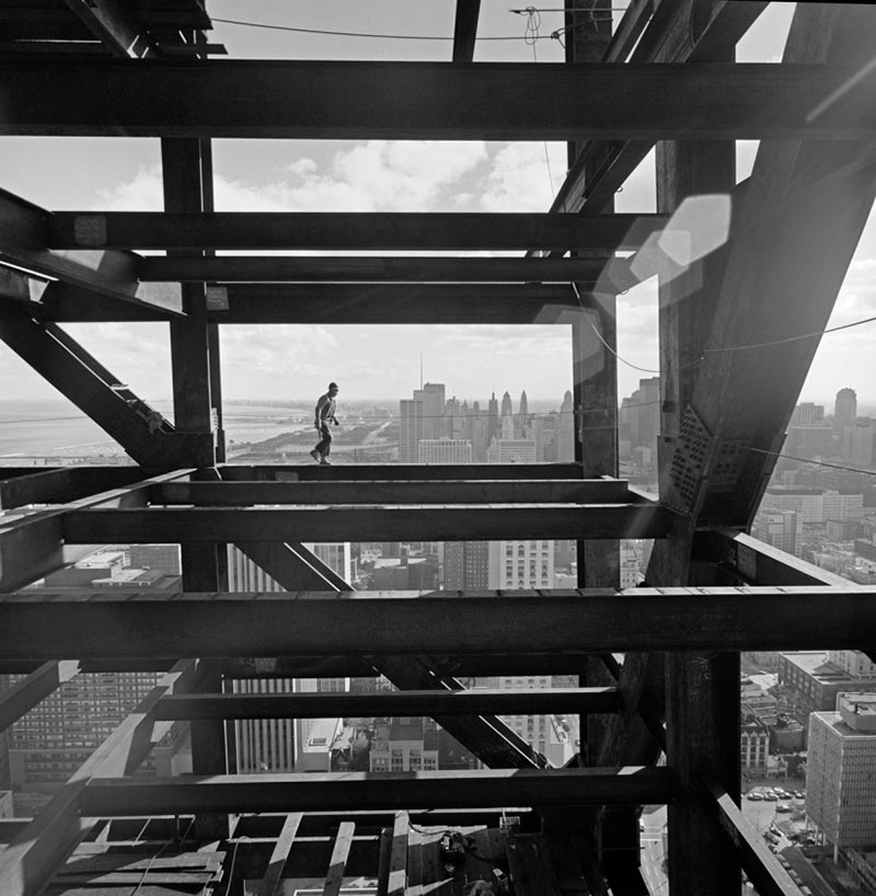 John Hancock Chicago construction, Skidmore, Owings & Merrill, Chicago, IL, 1967 Gelatin Silver Print