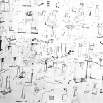 """Gerard Taylor's """"Drawings for Lamps"""" 1982"""