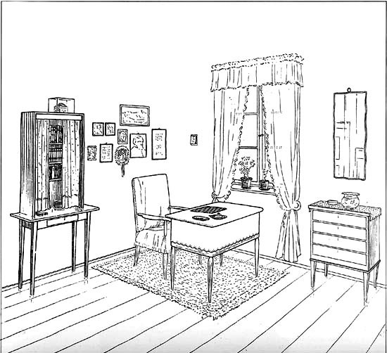 Line Art Studio Serpong : A collection of tessenow s interiors drawings socks