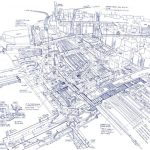 Infinite Infrastructure: Drawings of Tokyo Stations by Tomoyuki Tanaka