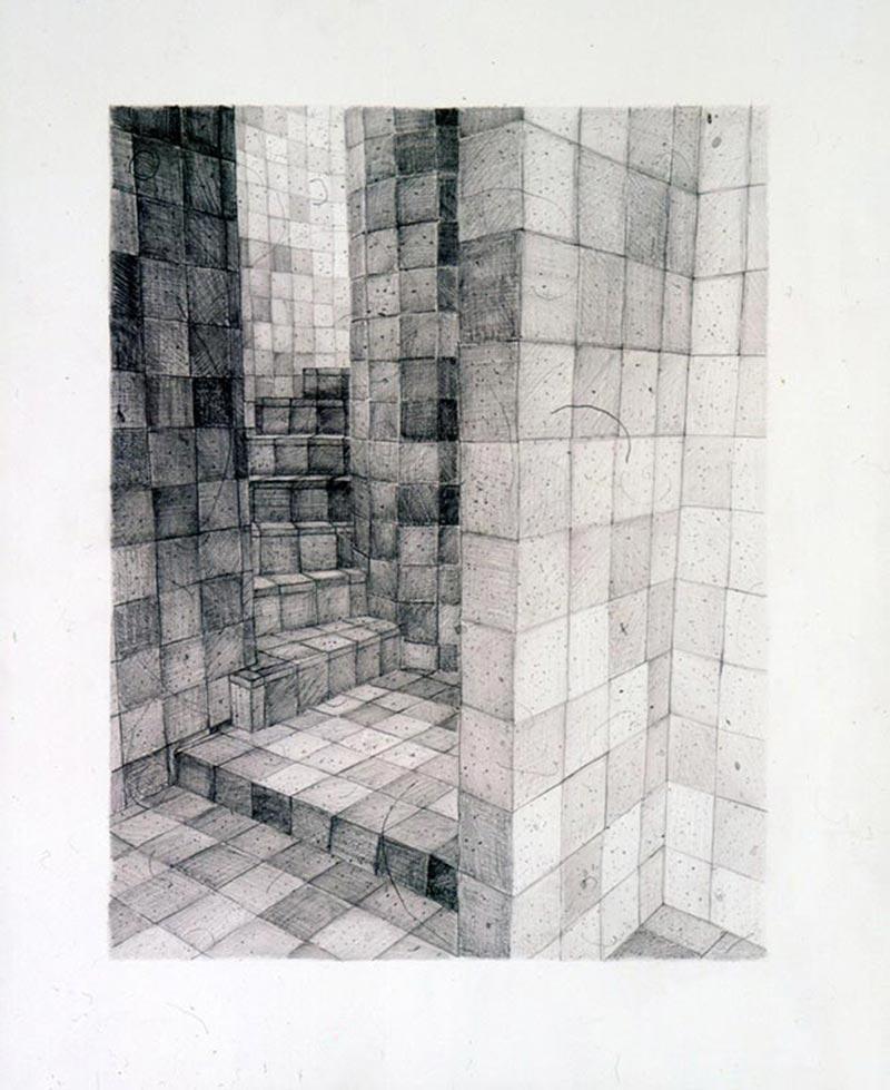 The mystic, 2004 graphite on paper , 51 x 37.5 cm