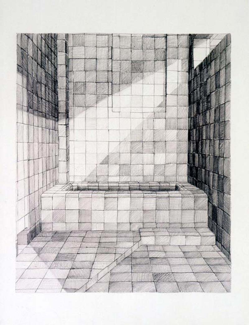 The diva, 2004 graphite on paper , 51 x 37.5 cm