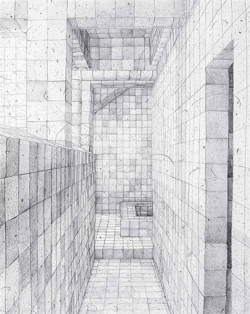 The obsessive, 2007 graphite on paper , 42,0 x 29,7 cm