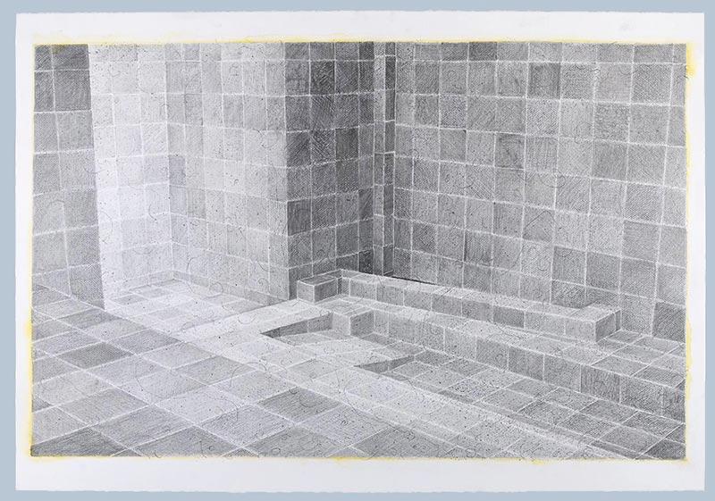 The obscene, 2009 graphite and watercolour on paper , 70 x 100 cm